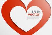 Corazón vec — Vector de stock