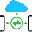 A cloud computing concept — Stockvectorbeeld