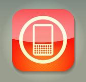 Ikon med telefonen — Stockvektor