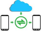 A cloud computing concept — Stock Vector