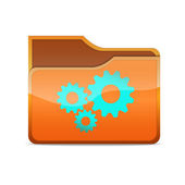 Icon with gears — Stock Vector