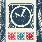 A creative icon in grunge style, eps10 vector — Vecteur