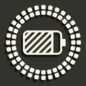 Batteriikonen — Stockvektor