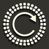 Kreativa vektor mosaik icon — Stockvektor