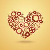 Serce z biegami — Wektor stockowy
