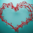 Stock Photo: Barbed wire heart