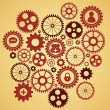 Gears with icons inside — Stock Vector