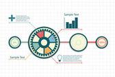 Progettazione infografica — Vettoriale Stock