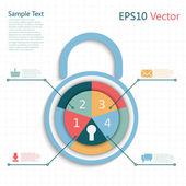Padlock info — Stock Vector
