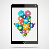 Download tablet — Stock Vector
