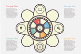 Infográfico design — Vetorial Stock