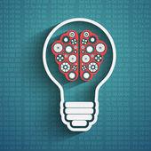 Bulb with brain — Stock Vector