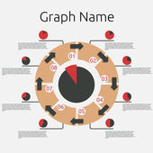Abstract infographics template. — Wektor stockowy