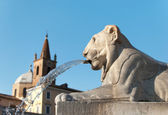 Statue of a Lion in Rome — Stock Photo