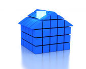 3d Blue House — Stock Photo