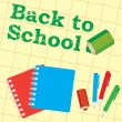 Royalty-Free Stock Vector Image: Back to school, paper, pencils, pens,