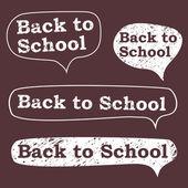 Back to school, the bubble in chalk on a blackboard — Stock Vector