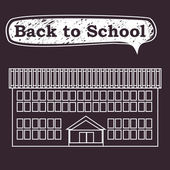 Back to school, vector illustration — Stock Vector