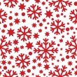 Stock Vector: Seamless winter pattern with snowflakes