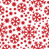 Seamless winter pattern with snowflakes — Stock Vector