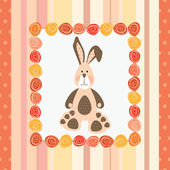 Postcard with bunny — Stock Vector