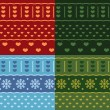 Winter Christmas seamless vector pattern — Image vectorielle