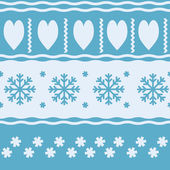 Winter Christmas seamless vector pattern — Stock Vector