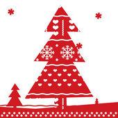 Noel ağacı noel arka plan — Stok Vektör