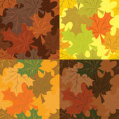 Seamless pattern of autumn maple leaves — Stock Vector