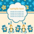 Baby greeting card — Stock Vector #12662866