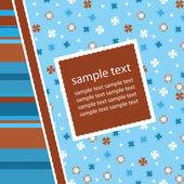 Greetings card, vector illustration — Stock Vector