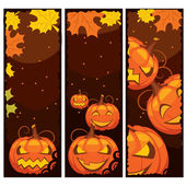 Vector de banner de halloween — Vector de stock