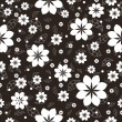 Vector seamless floral pattern — Stock Vector