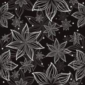 Vektor sömlös blommönster — Stockvektor