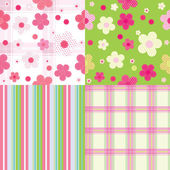 Vector seamless pattern for baby — Stock Vector