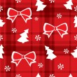 Christmas red seamless pattern — Imagen vectorial