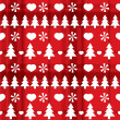 Christmas seamless pattern with Christmas trees — Stock Vector