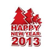 Yeni yıl 2013, Noel ağacı — Stok Vektör