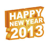 3D vector , Happy new year 2013 — Wektor stockowy