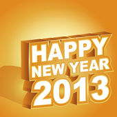 3D gold vector , Happy new year 2013 — Stock Vector