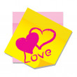 Royalty-Free Stock Vector Image: Vector paper sticker with heart