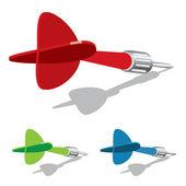 Vektor dart — Stockvektor