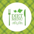 Vector diet menu - Stock Vector