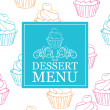 Vector dessert menu - Stock Vector