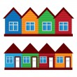 Vector houses, colored painted houses, — Stock Vector #14128479