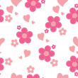 Royalty-Free Stock Vectorielle: Seamless pattern with flowers