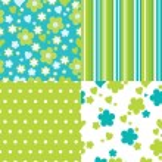 Set of seamless pattern — Stock Vector