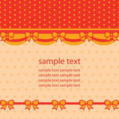 Retro background with ribbons, for babies — Stockvector