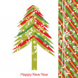 Vector New Year card — Vettoriali Stock