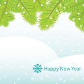 Vector New Year card — Stock Vector